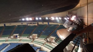View from above in the Blaisdell arena.