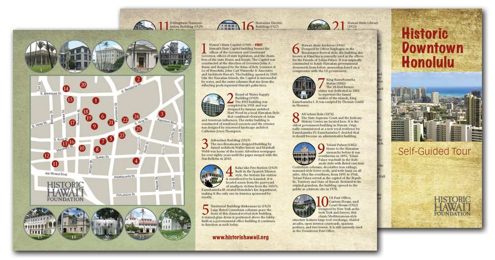 Historic Downtown Honolulu Map Available For Self Guided Tours Historic Hawaii Foundation