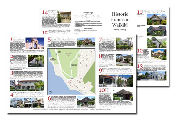picture regarding Printable Map of Waikiki identify Ancient Downtown Honolulu Map Offered for Self-Guided