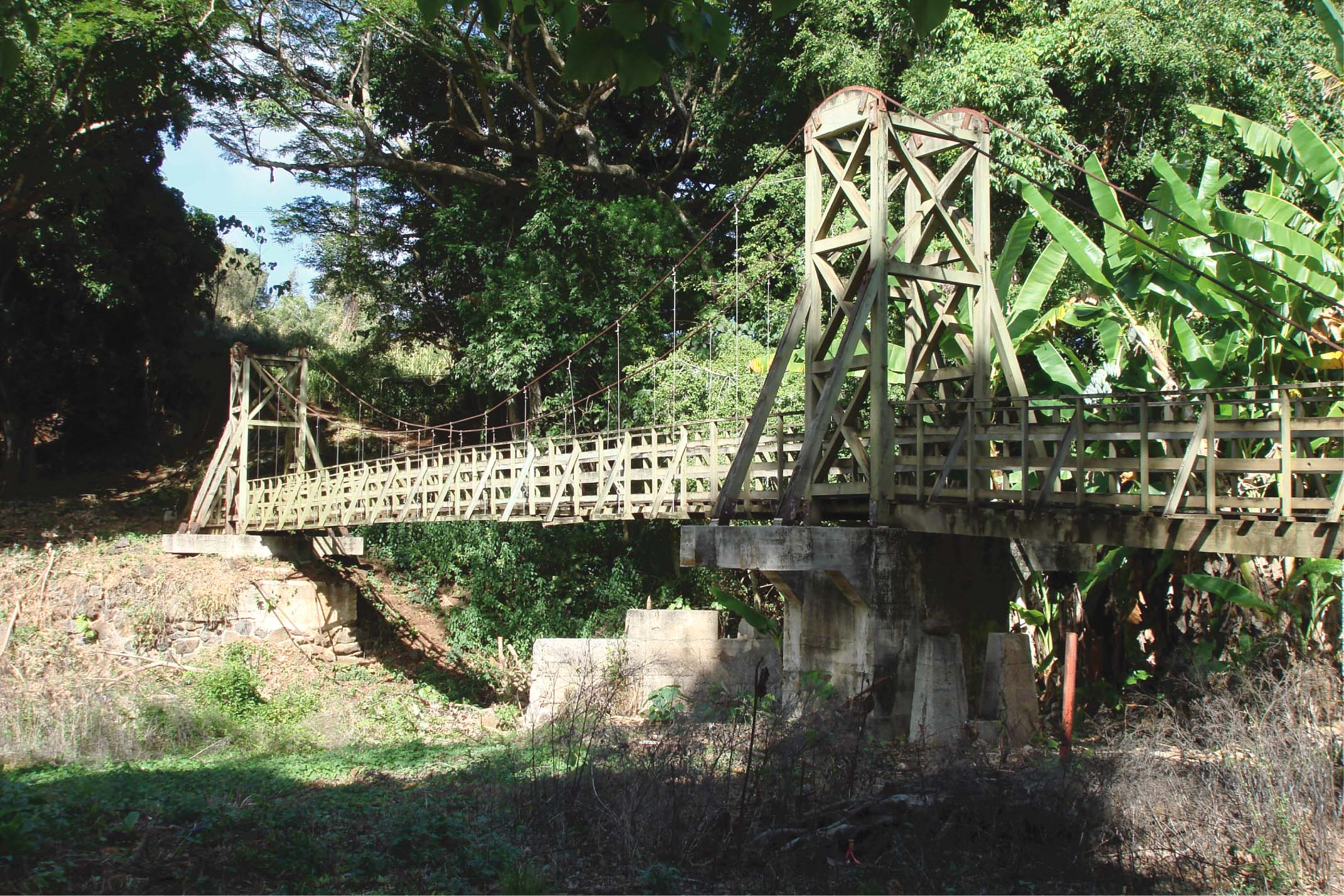 Kapaia Swinging Bridge Historic Hawaii Foundation