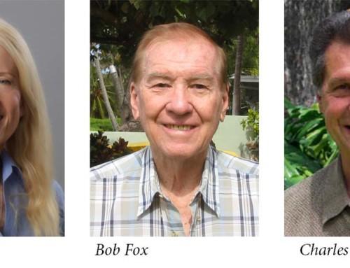 MEMBERSHIP CORNER: Interview with Jan Atkins, Charles Black and Bob Fox